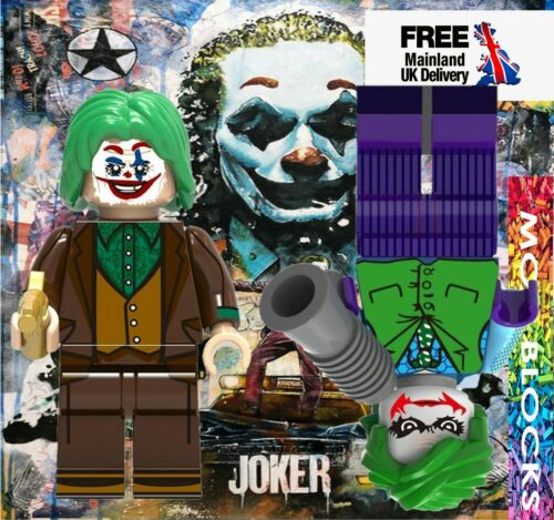Fits Lego JOKER Minifigure Construction Toy Lego Compatible UK Stock