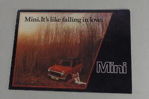 Prospectus Leyland Austin Mini 1000 De 06/1987
