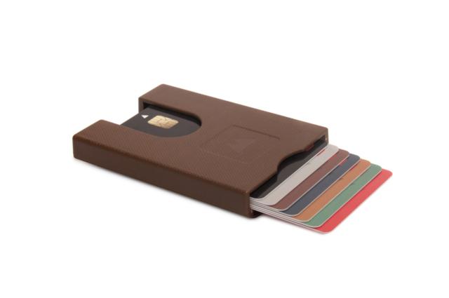 wallet credit cards money men aluminium black matte easy slide