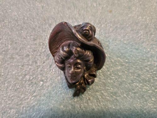 Antique Victorian 3D Bonnet Lady Sterling Silver … - image 1