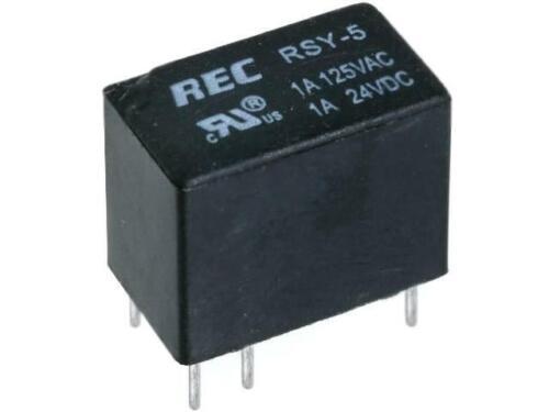 RSY-5 Relais elektromagnetisch SPDT USpule  5VDC 0,5A//125VAC RAYEX ELECTRONICS
