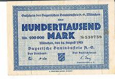 Alemania Notgeld München Bayerischen bauindustrie 1000000 Mark 24.08.1923 FMAM-Uca