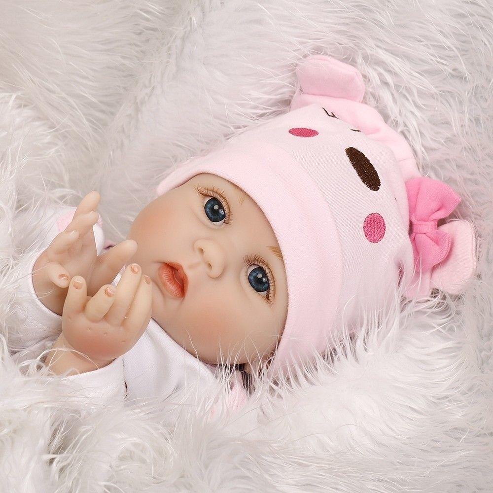 22 pulgadas 55cm muñecos realistas de Silicona Reborn bebé recién nacido Muñecas Niño Niña Regalos