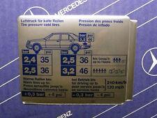 Original Mercedes Aufkleber REIFENDRUCK / Tankklappe W124 4matic NOS!