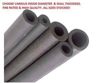 FRIDGE PIPE FIRE RATED INSULATION 2M LENGTH 19MM I.D X 13MM WALL