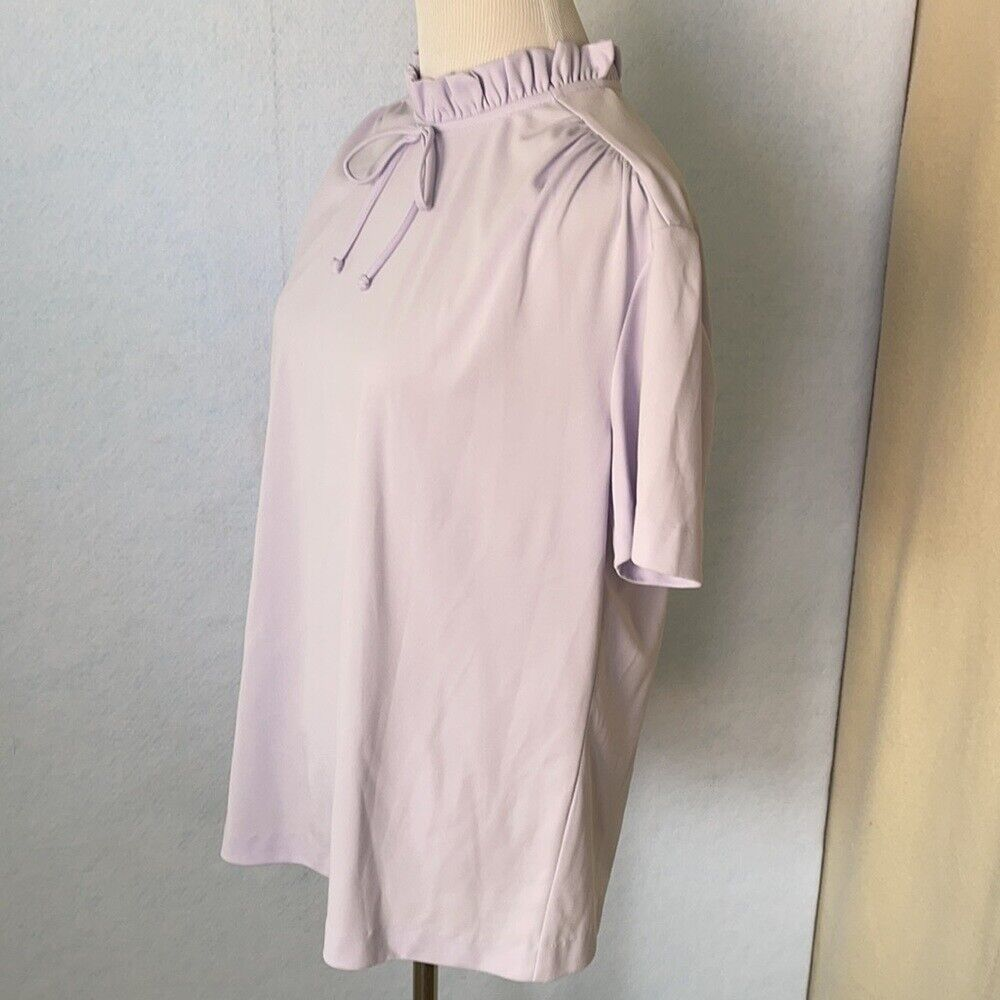 Graff Vintage Lilac Ruffled High Tie Neck Blouse,… - image 11