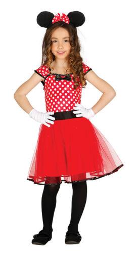 Chérie BD Souris-Costume pour Filles Carnaval Oreilles Rouge Fête Taille 98-14