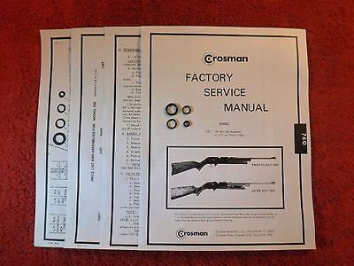 Factory Service Manual W//Instructions /& Guide Crosman 1300 Reseal Seal Kit