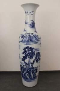 Grande-Vaso-da-Pavimento-Dipinti-Cina-Vaso-Blu-Bianco-Porcellana-asienlifestyle