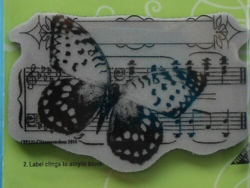 BUTTERFLY TUNE  Stampendous CLING MOUNTED RUBBER STAMP CRP223