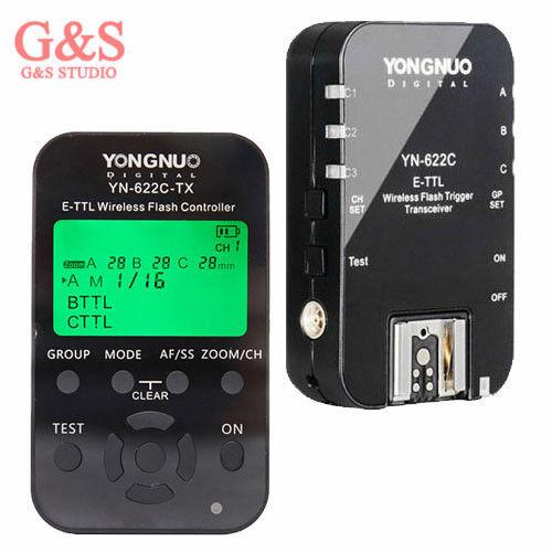 Humoristique Yongnuo Yn-622c-tx + Yn-622c Kit Wireless Ttl Flash Controller Trigger For Canon Nous Prenons Les Clients Comme Nos Dieux