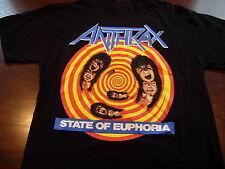 ANTHRAX State Of Euphoria 80's Band T Shirt Sz.Medium MINT condition Scott Ian