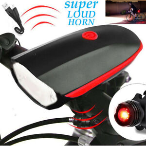 Rechargeable-USB-LED-Bicycle-Headlight-Bike-Tail-Light-Front-Lamp-Cycling-Horn