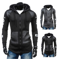 Mens Hoodie Sweatshirt Hooded Zip Up Stylish Jumper Coat Jacket Outwear Sweater