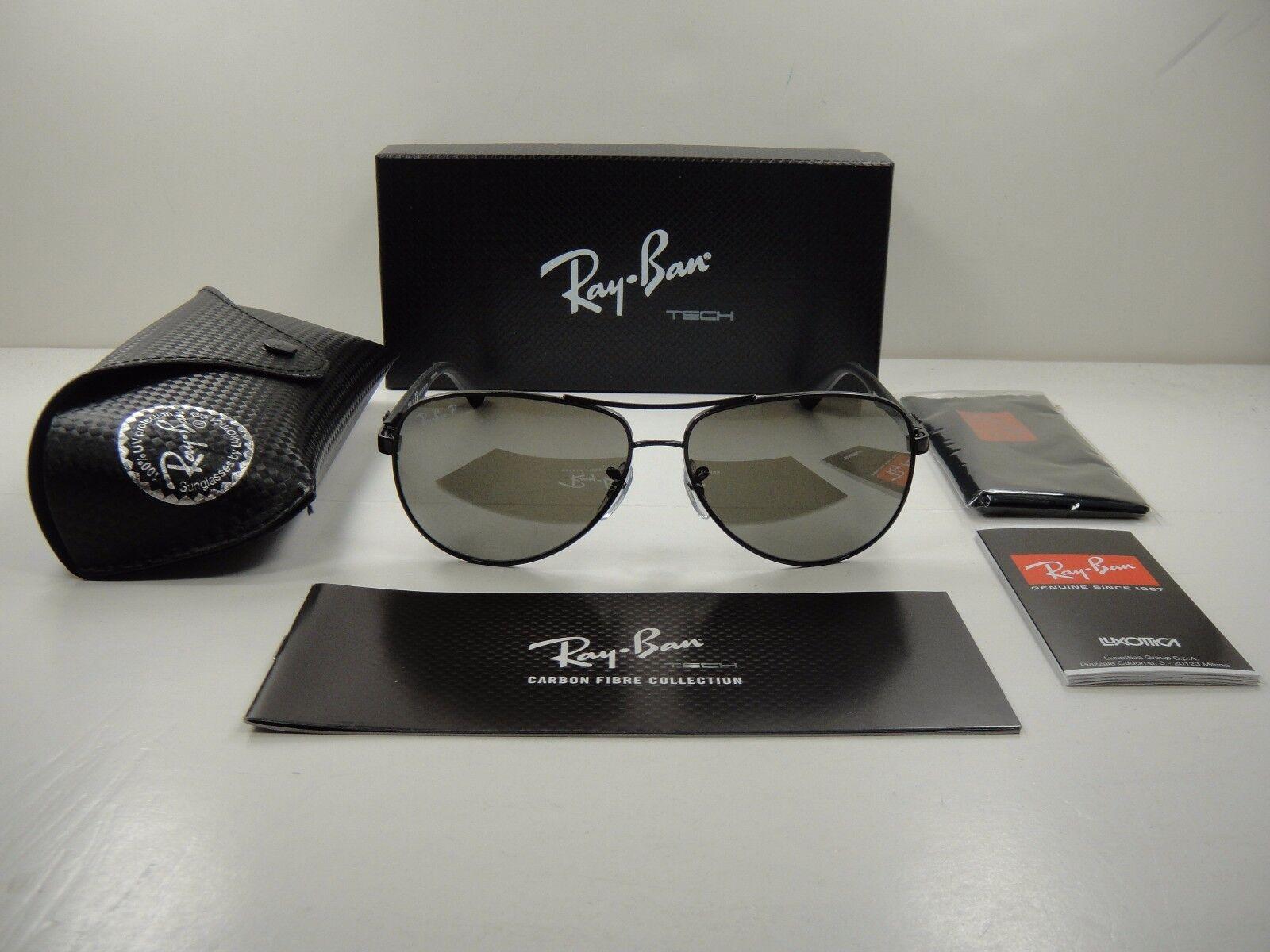 006a872f29b Ray Ban Rb8313 002 k7 Black Carbon Fiber Sunglasses Polarized Lens ...
