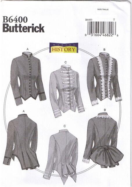 Butterick Sewing Pattern B6400 Women 14-22 Victorian Jacket Costume ...