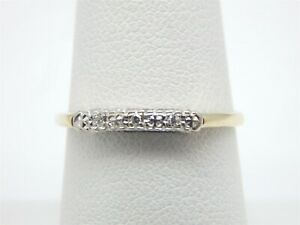 14K-YELLOW-GOLD-TWO-TONE-DIAMOND-ACCENT-BAND-RING-SIZE-7-25