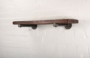 Wooden-Floating-Shelves-With-Industrial-Pipe-Fittings-Custom-Sizes-Finishes
