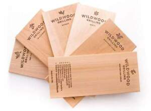 """Fruits Veggies /& More! 6 Pack Cedar Grilling Planks Chicken 5x11/"""" For Salmon"""