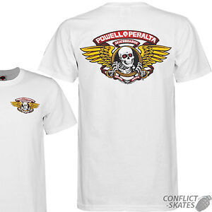POWELL PERALTA 034Winged Ripper034 Skateboard TShirt WHITE Choose S M L XL Bones - <span itemprop=availableAtOrFrom>Leicester, Leicestershire, United Kingdom</span> - Returns accepted Most purchases from business sellers are protected by the Consumer Contract Regulations 2013 which give you the right to cancel the purchase within 14 d - Leicester, Leicestershire, United Kingdom