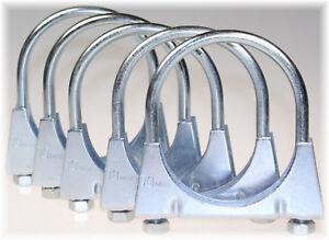5 St Auspuffschelle Rohr-Bügel Schelle U-Bolt Clamp M8 x 32 mm Flachbügelschelle