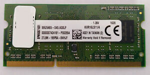 Kingston 4gb 1600mhz Pc3 12800 Ddr3 Cl11 So Dimm Kvr16ls11 4 Laptop