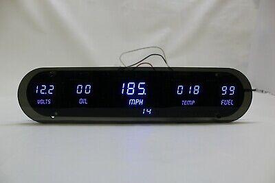 Universal 5 Gauge Digital Dash Panel WHITE LEDs Gauges MADE IN USA Intellitronix