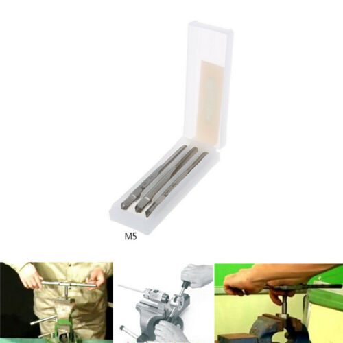 3Pcs//Set HSS Machine Hand Screw Thread Metric Plug Tap Die Set M3//M4//M5//M6//M8//10