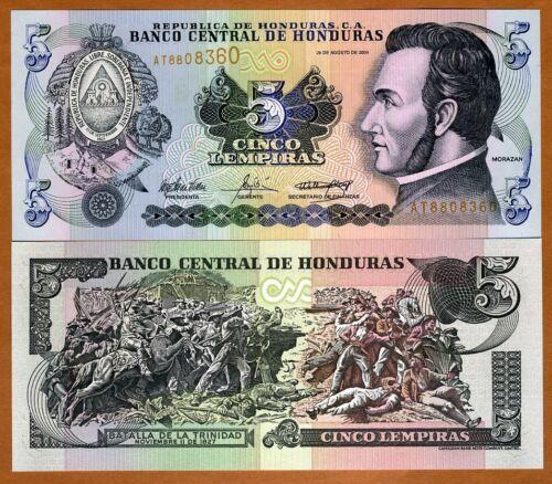 85d Honduras 2004 UNC /> Battle 5 Lempiras Pick 85