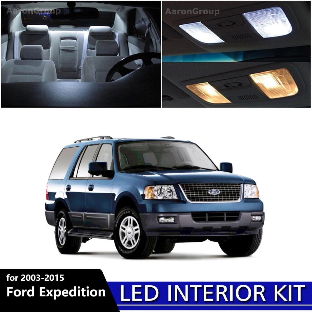 2015 Ford Expedition Interior Colors: 17PCS White Interior LED Light Package Kit For 2003