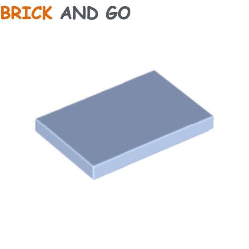 light blue Himmelblau 2 x LEGO 26603 Platte glatt flach Fliese 2x3 neu NEW