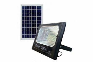 FARO-FARETTO-LED-SMD-25W-CON-PANNELLO-SOLARE-RICARICABILE-ENERGIA-CREPUSCOLARE