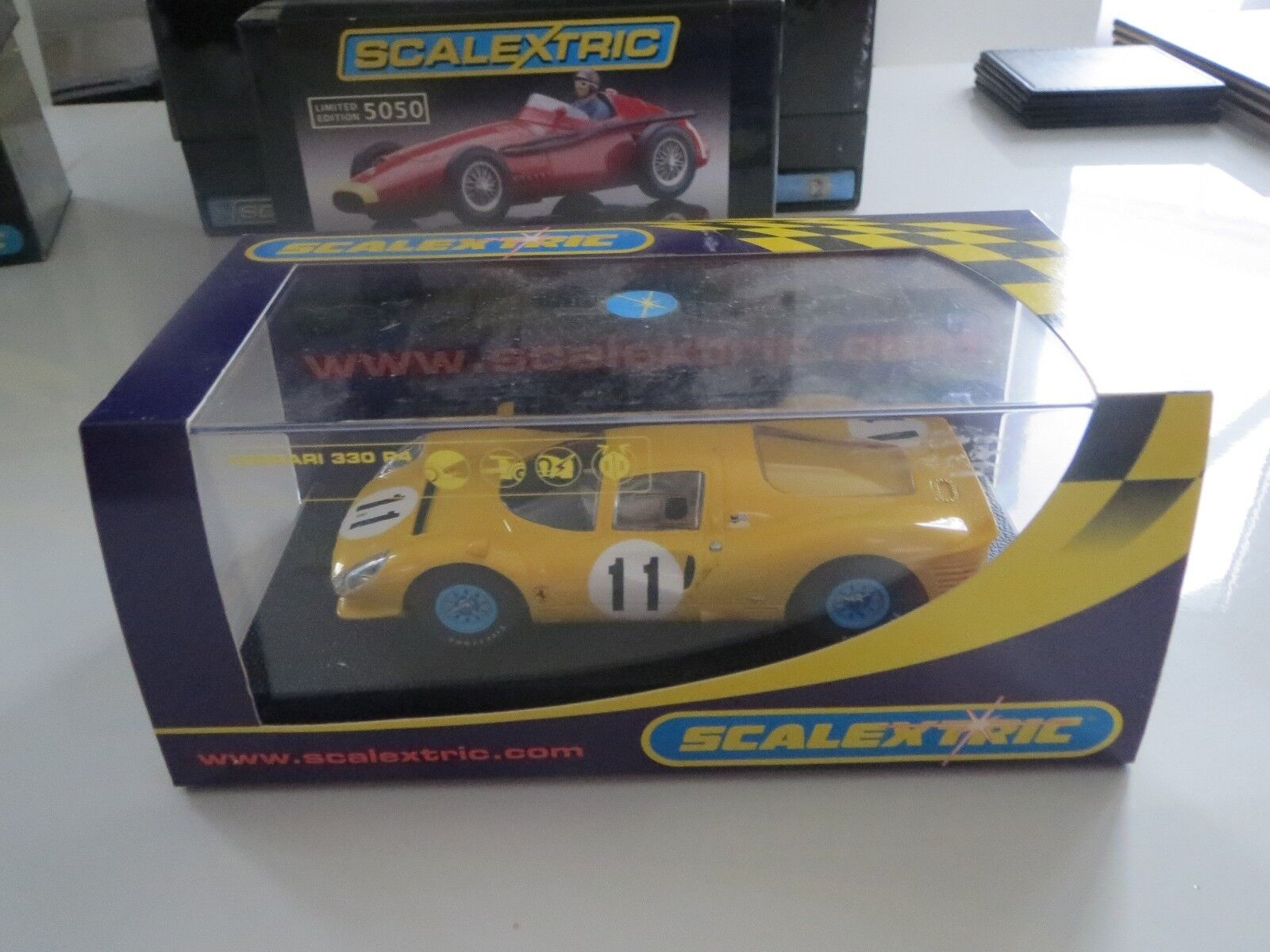 SCALEXTRIC C2787 FFERRARI 330 YELLOW  BNIB DELETED COLLECTABLE GETTING RARE
