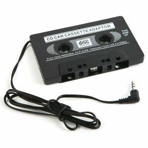 AUX-Auto-MP3-Audio-Kassette-Adapter-3-5-mm-Klinke-Kopfhoerer-Anschluss-KFZ