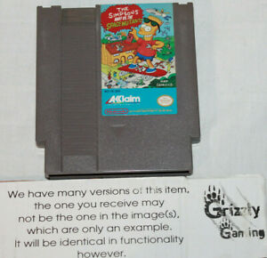 USED The Simpsons Bart VS The Space Mutants Nintendo NES! Canadian Seller!!