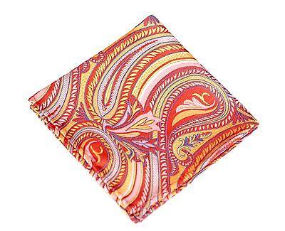Lake Toya Kimono Red Silk $75 New Lord R Colton Masterworks Pocket Square