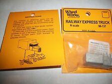 Wheel Works Vehicles N Scale Railway Express Truck White Metal Casting Kit BTTG
