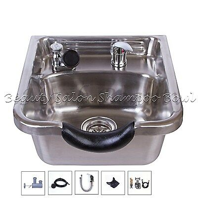 Salon & Spa Equipment Cheap Price Beauty Stainless Steel Shampoo Bowl Shampoo Sink Barber Salon Brushed Tlc-1167 Clearance Price