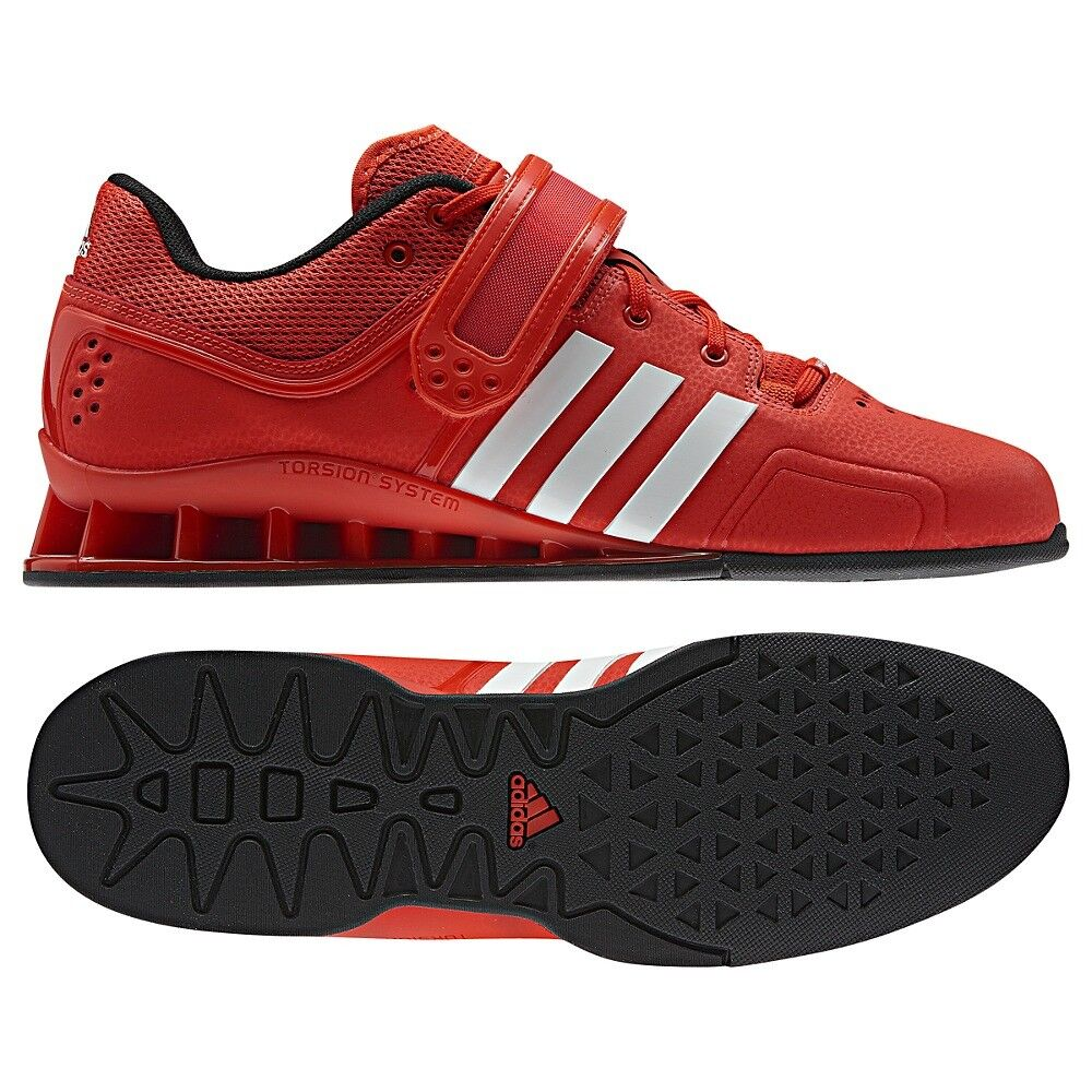 Men's Adidas Adipower Weightlifting shoes - Red   White- V24382