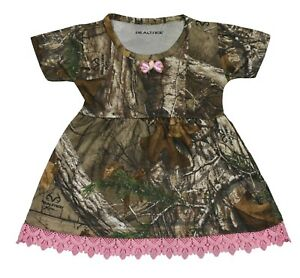 GIRLS HUNTING, CAMPING, FISHING REALTREE EXCLUSIVE CAMO DRESS