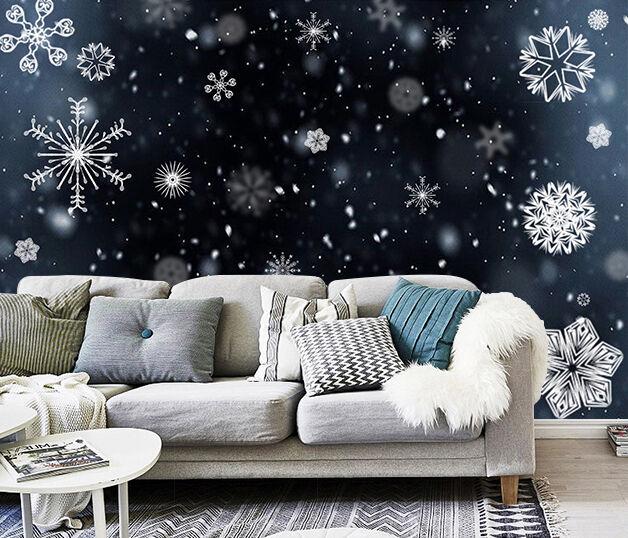 3D Christmas Weiß snowflakes 323 WallPaper Murals Wall Print Decal AJ WALLPAPER