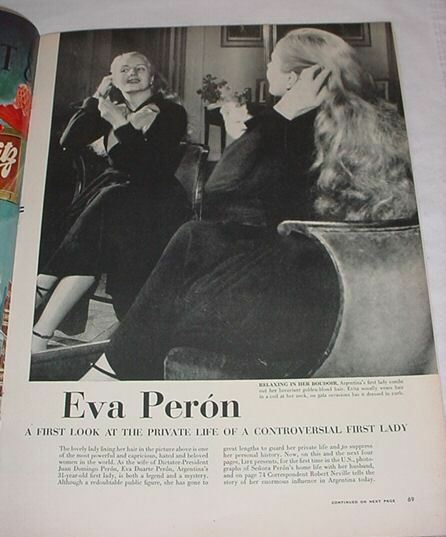 LIFE MAGAZINE DECEMBER 11 1950 REX HARRISON EVA PERON DELL CITY TEXAS