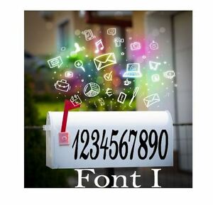 Image Is Loading Mailbox Numbers Stickers House Monogram Decal Vinyl