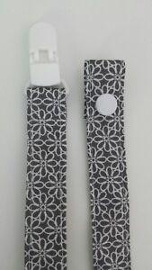 Schnullerband Stoff Schnullerkette mit Clip Baumwollband HANDARBEIT Dawanda Art