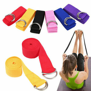 1x-Yoga-High-Density-Ribbon-180cm-Yoga-Stretch-Strap-D-ring-Belt-Stretching-Band
