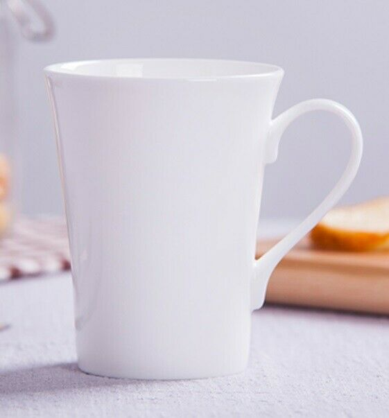 36 x 350ml White Mug Coffee Tea Drinking Mugs Cup Tumbler Plain Ceramic Party