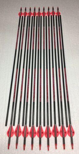 """Blazers vains 31/"""" non coupé 18 rose ATHENA Carbone de Chasse Flèches 500 jusqu/'à 55 LB environ 24.95 kg"""