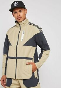 Details about adidas Originals NMD Track Top Mens Raw Gold Color Block Outdoor Wear DH2252
