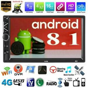 Double-2Din-7-034-Android-8-1-Car-Stereo-MP5-Player-Bluetooth-WiFi-GPS-FM-Radio-Aux