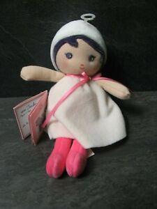 peluche-doudou-poupee-perle-blanche-rose-19-cm-kaloo-neuf